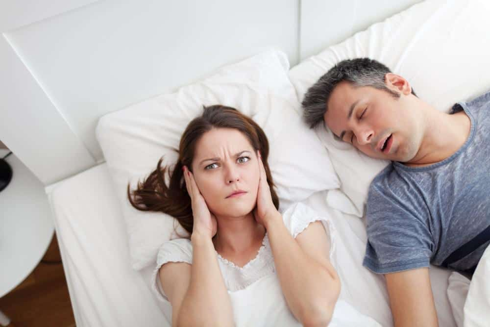 Sleep Apnea Couple In bed Awake